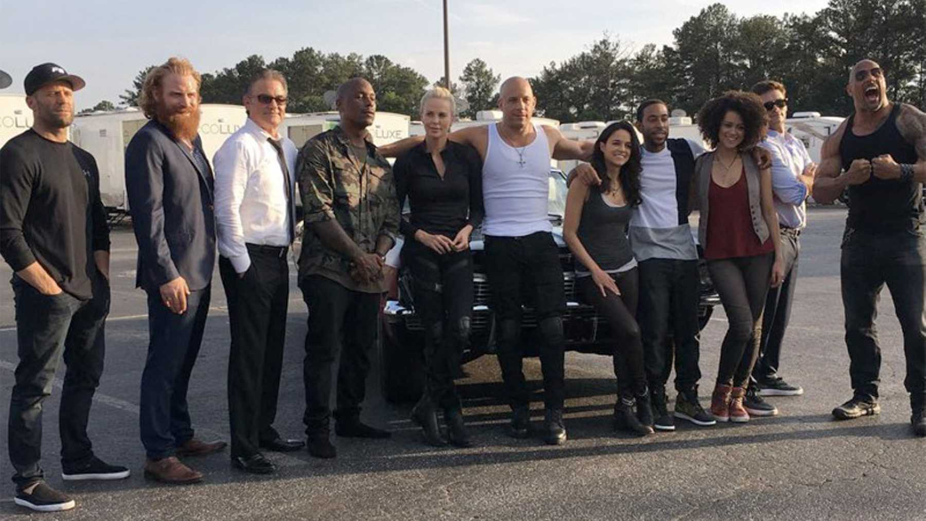 Fast Furious 8 First Cast Photo Revealed Movies Empire