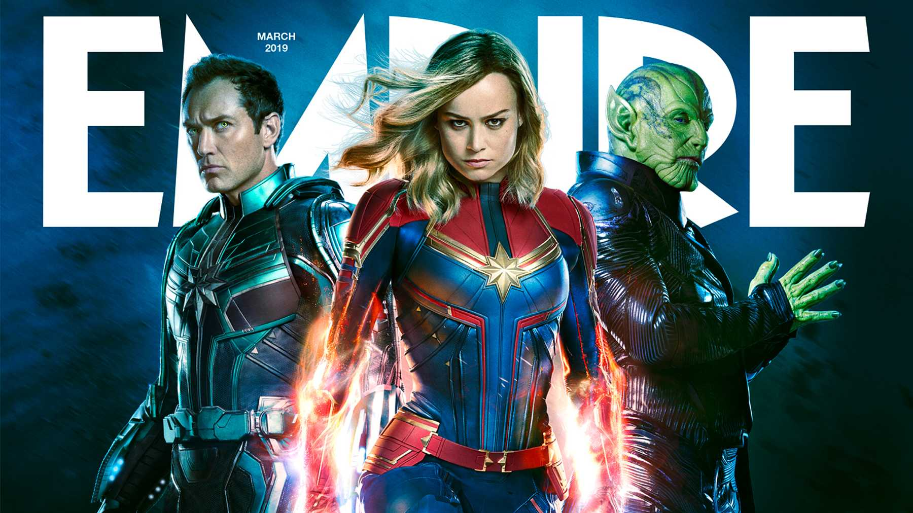 empire's captain marvel newsstand cover revealed | movies