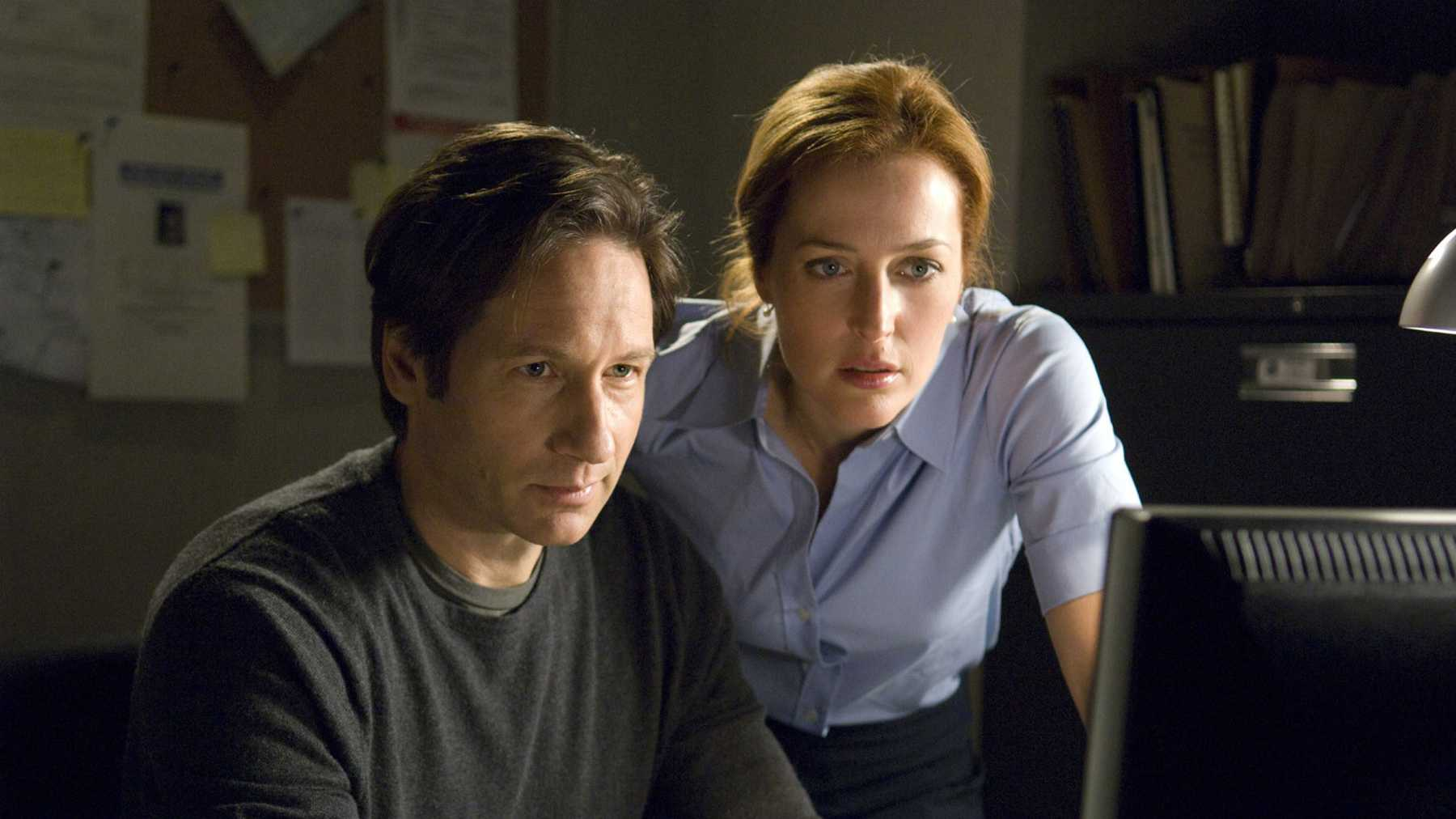X-Files Archive: David Duchovny and Gillian Anderson in