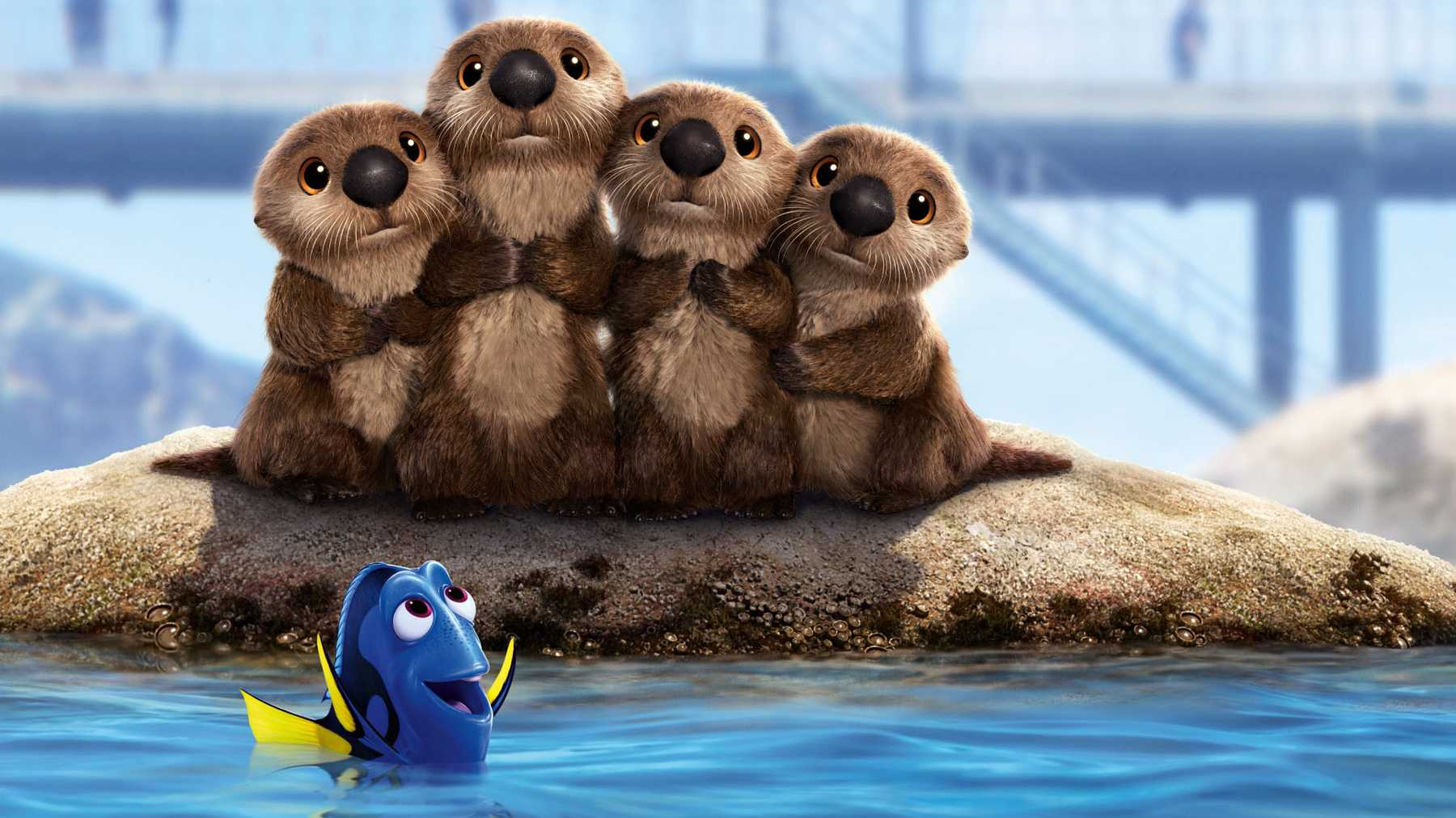 Dory with adorable otters