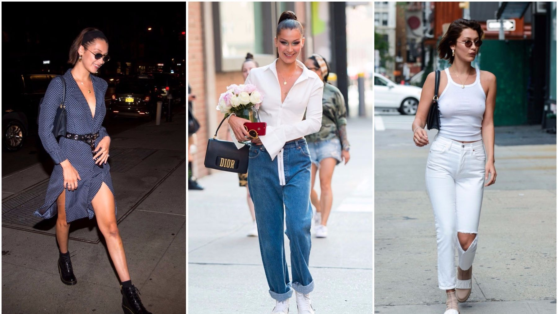082db36503559 Bella Hadid Nails NYC Street Style. See all of her greatest style moments.