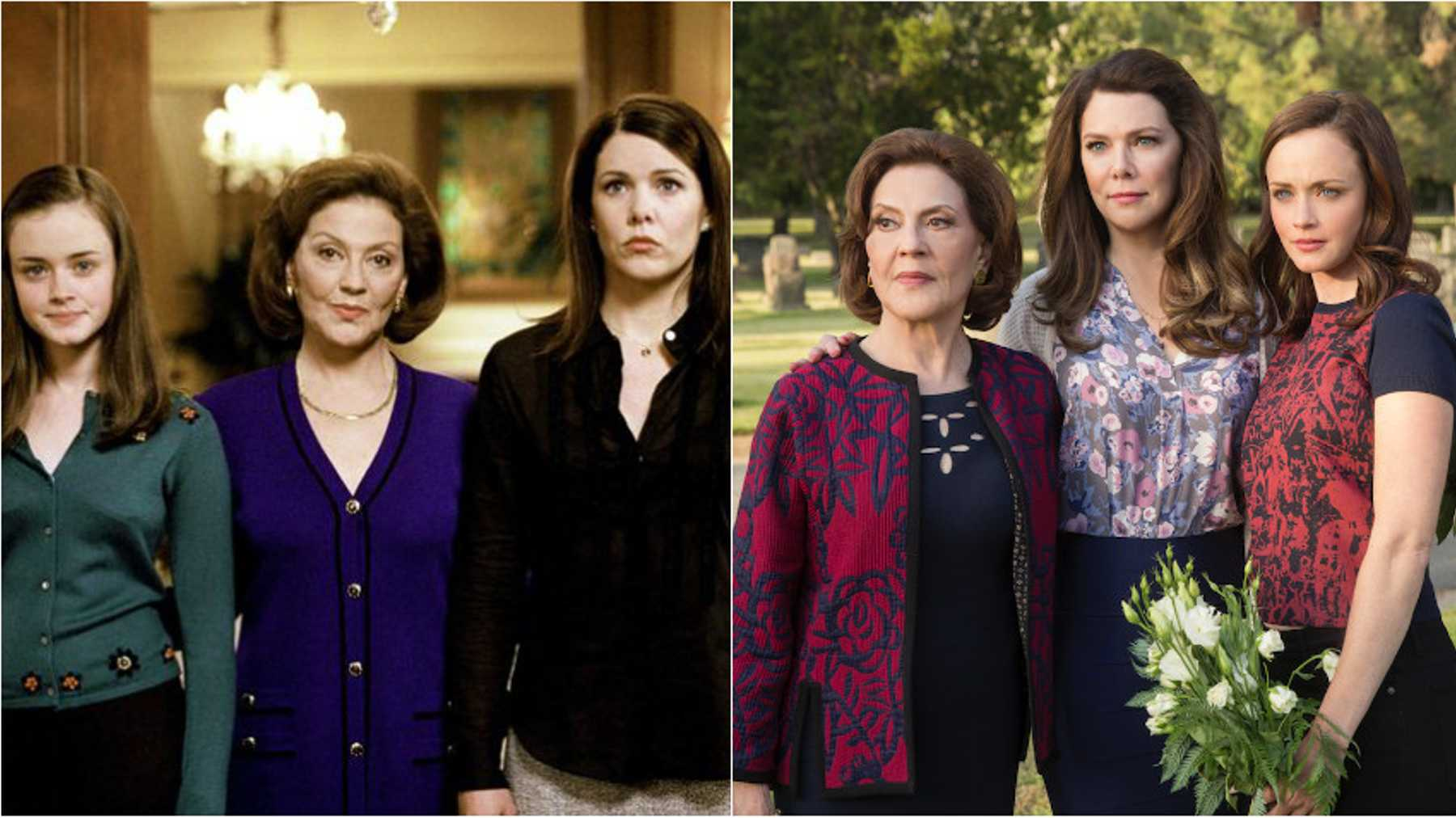 9bcf6243c3d Gilmore Girls then and now © Netflix