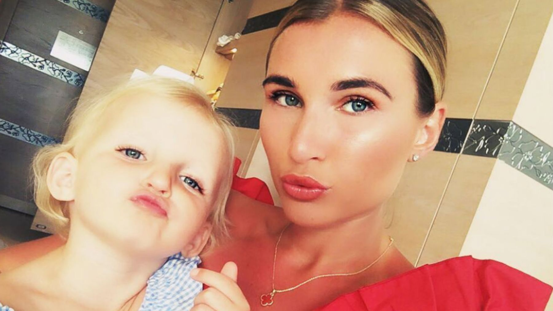 Mum-of-two Billie Faiers accused of hindering her eldest child's
