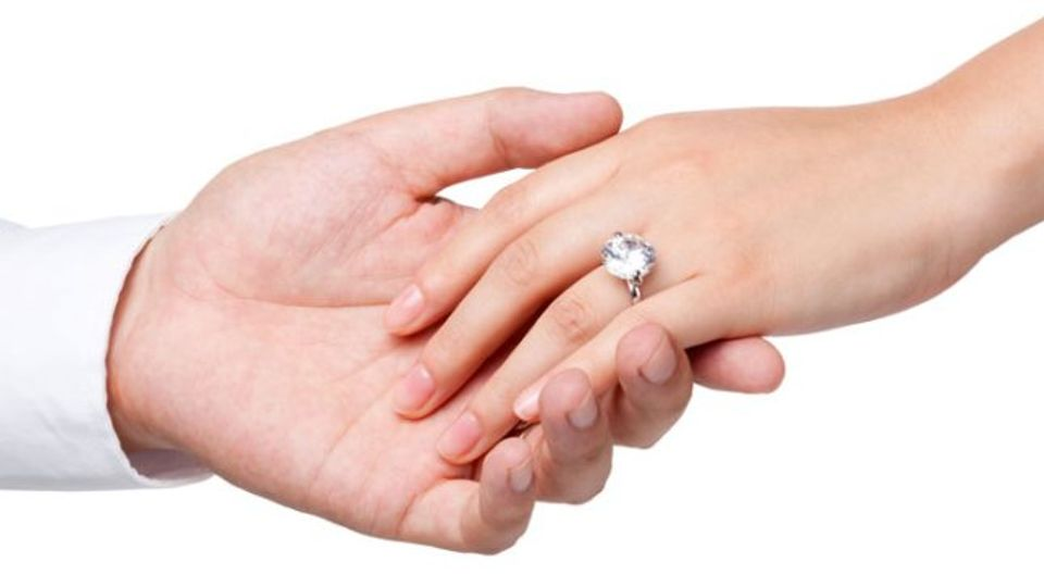 in which hand to wear engagement ring