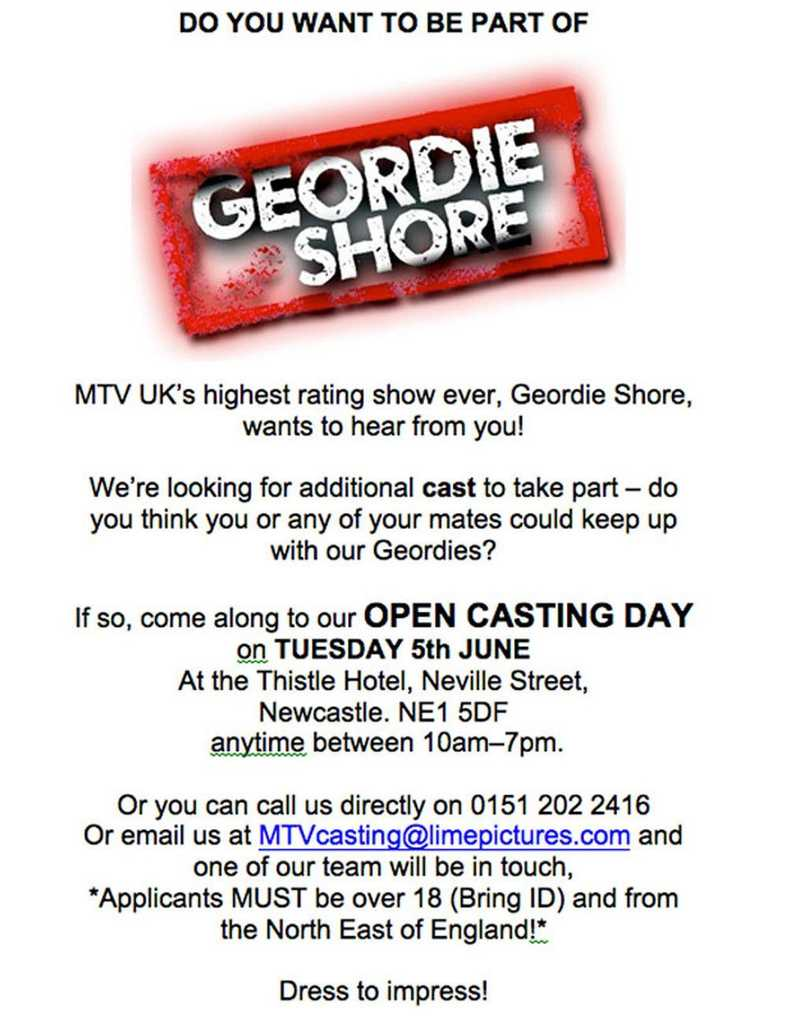MTV's Geordie Shore gets fourth series, and YOU can audition