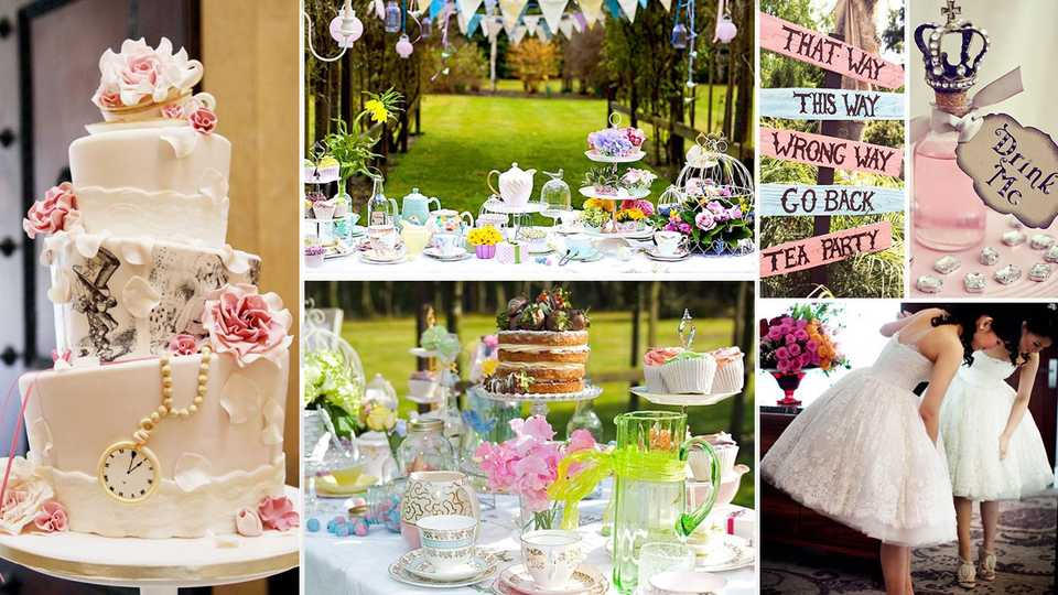 2ac3fc7b273 These beautiful and unique ideas will DEFINITELY inspire brides planning an  Alice In Wonderland wedding…