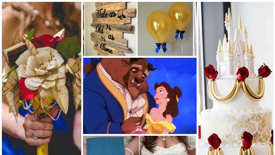 2b66092bd68 Wedding inspiration  How to throw the ultimate Beauty and the Beast themed  wedding