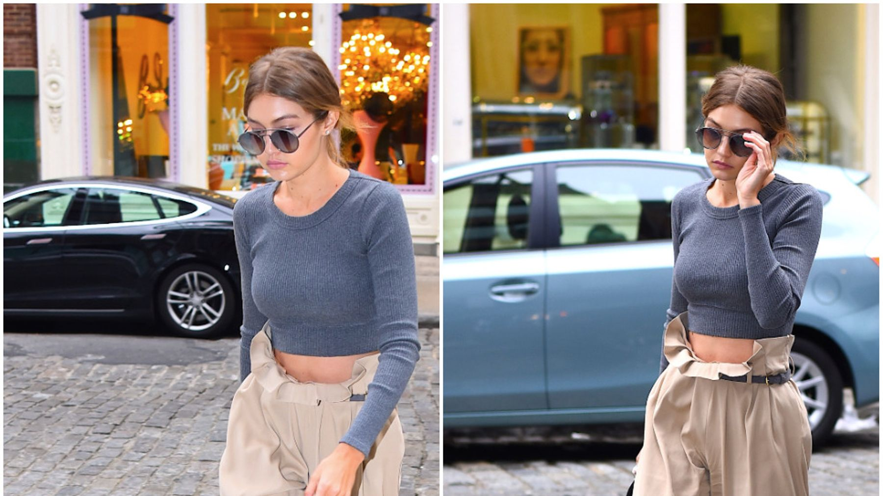 6160793566 Gigi Hadid Shows Us How To Style Baggy Trousers | Grazia