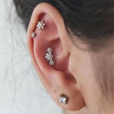 Everything You Ever Wanted To Know About The Multiple Ear Piercing