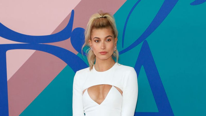 Hailey Bieber Teamed Custom Vera Wang Dress With Trainers At Wedding Reception - Grazia Daily