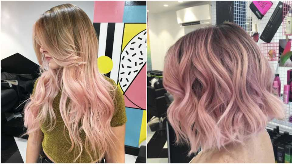 blush balayage the bold new way to wear your colour grazia. Black Bedroom Furniture Sets. Home Design Ideas