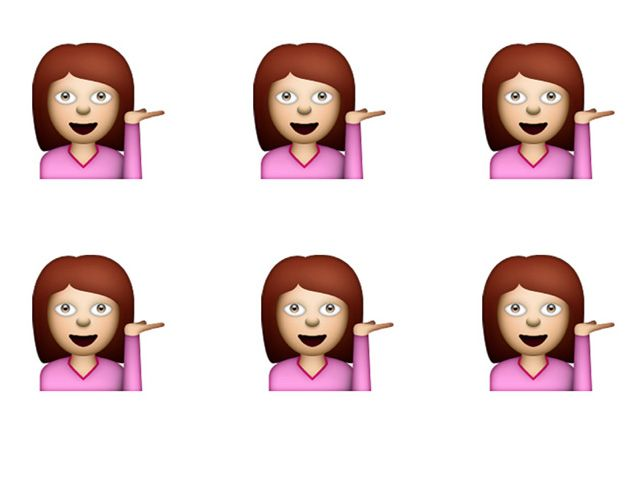 We've Been Using The Sassy Pink Lady Emoji Wrong All Along | Grazia