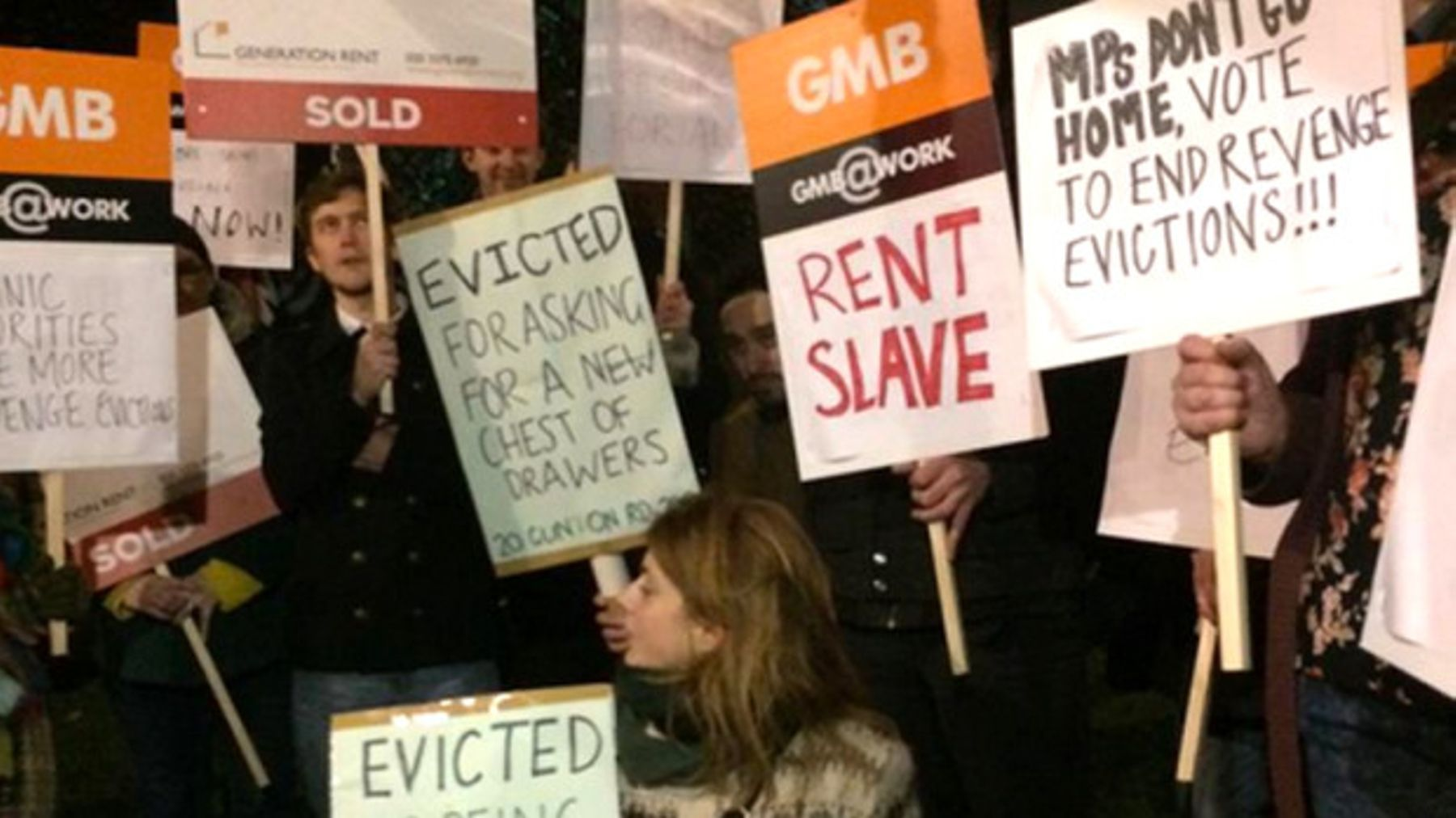 Last Night There Was A Protest Against Revenge Evictions