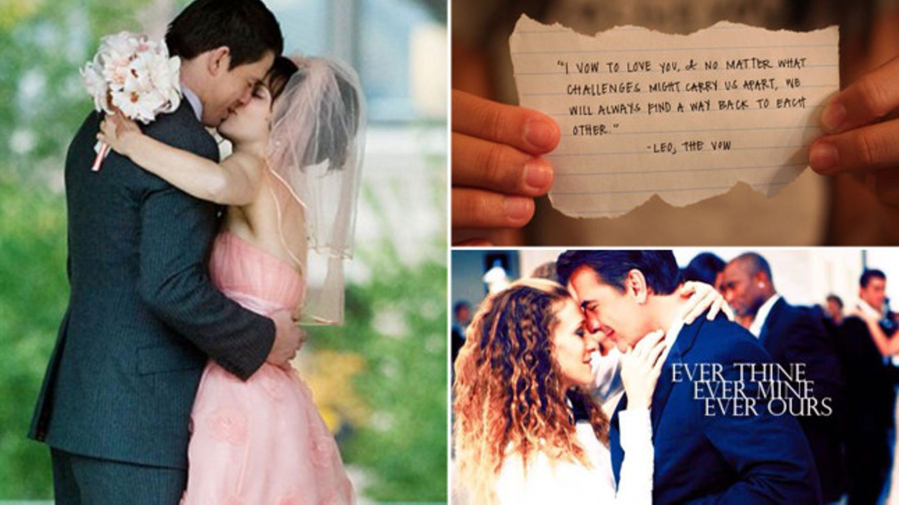 Wedding Vow Inspiration Beautiful Wedding Readings From Movies Tv
