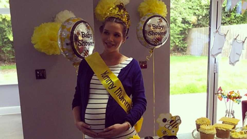 Helen Flanagan Shares Pictures From Yellow Themed Baby Shower Closer