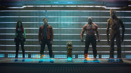 The Guardians Of The Galaxy crew.