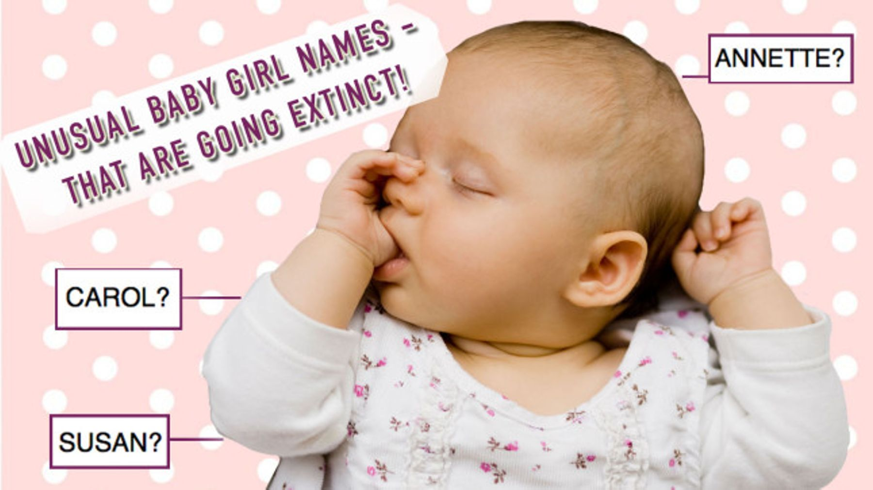 Baby girl names: 11 unusual baby names that are going extinct | Closer