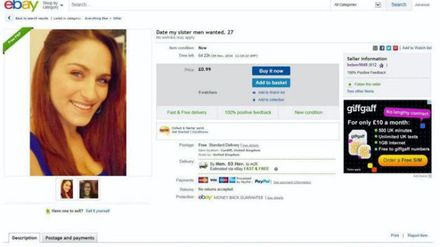 Man Puts Sister Up For Sale On Ebay In Bid To Find Her A Boyfriend Closer