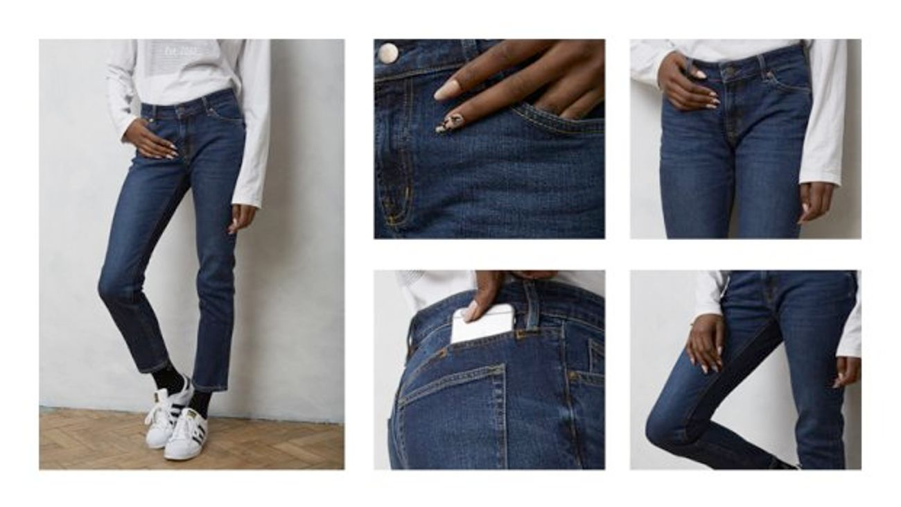 great look high quality materials on feet shots of Muji's £30 Jeans With A Pocket For Your iPhone Have Changed ...