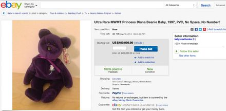 Random Discovery Of The Day You Could Be Sitting On A Beanie Baby