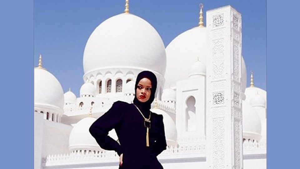Rihanna sparks outrage after posting pictures online posing outside Abu Dhabi mosque | Closer