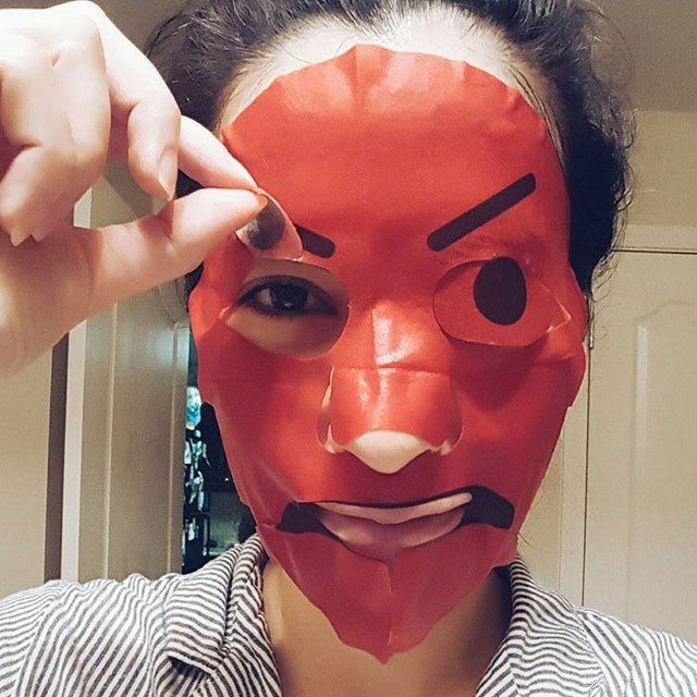 We're Fairly Freaked Out By These Emoji Face Masks | Grazia
