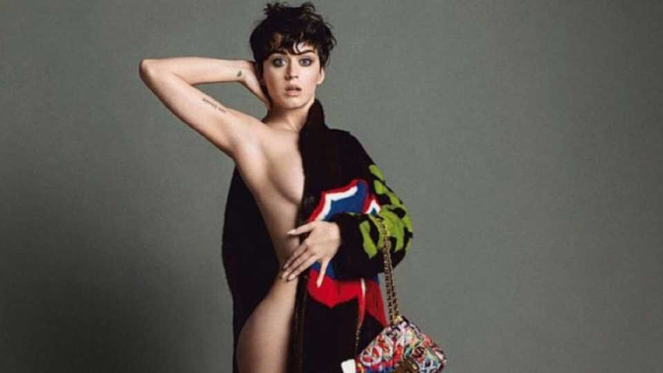 Katy Perry has gone naked for Moschino   Celebrity   Heat
