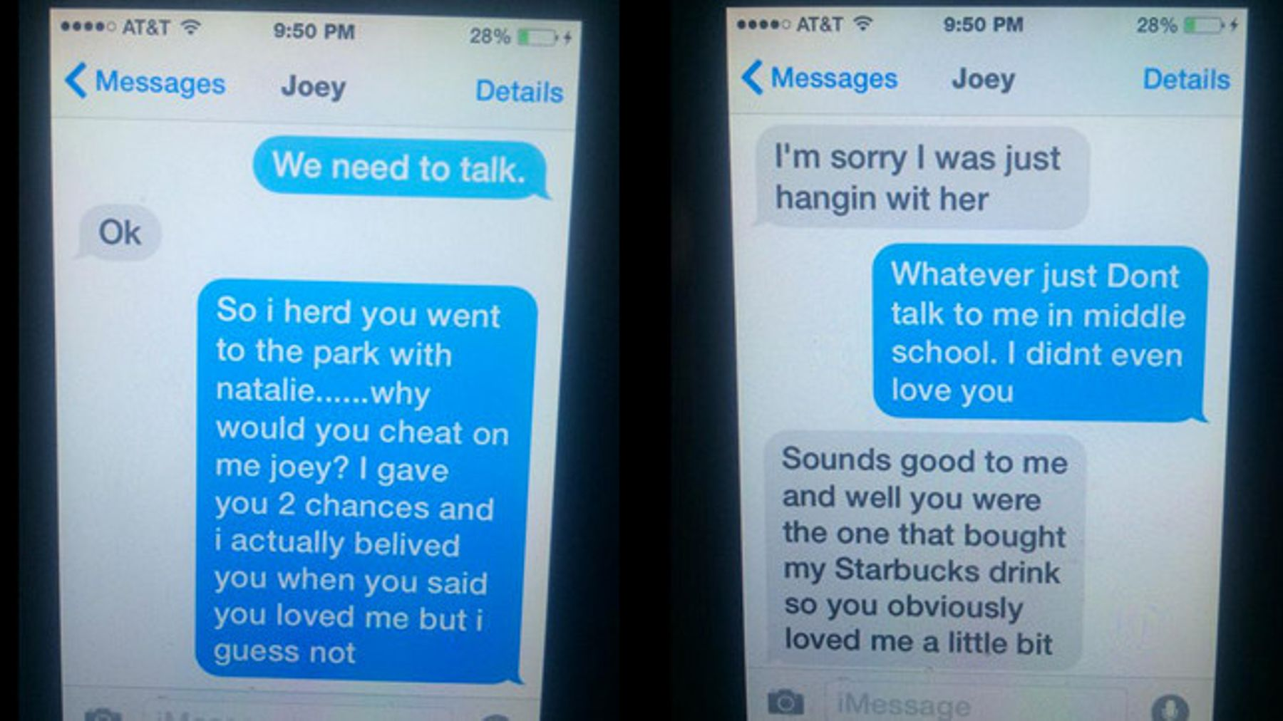 11-year-old girl's hilarious texts to cheating boyfriend go viral