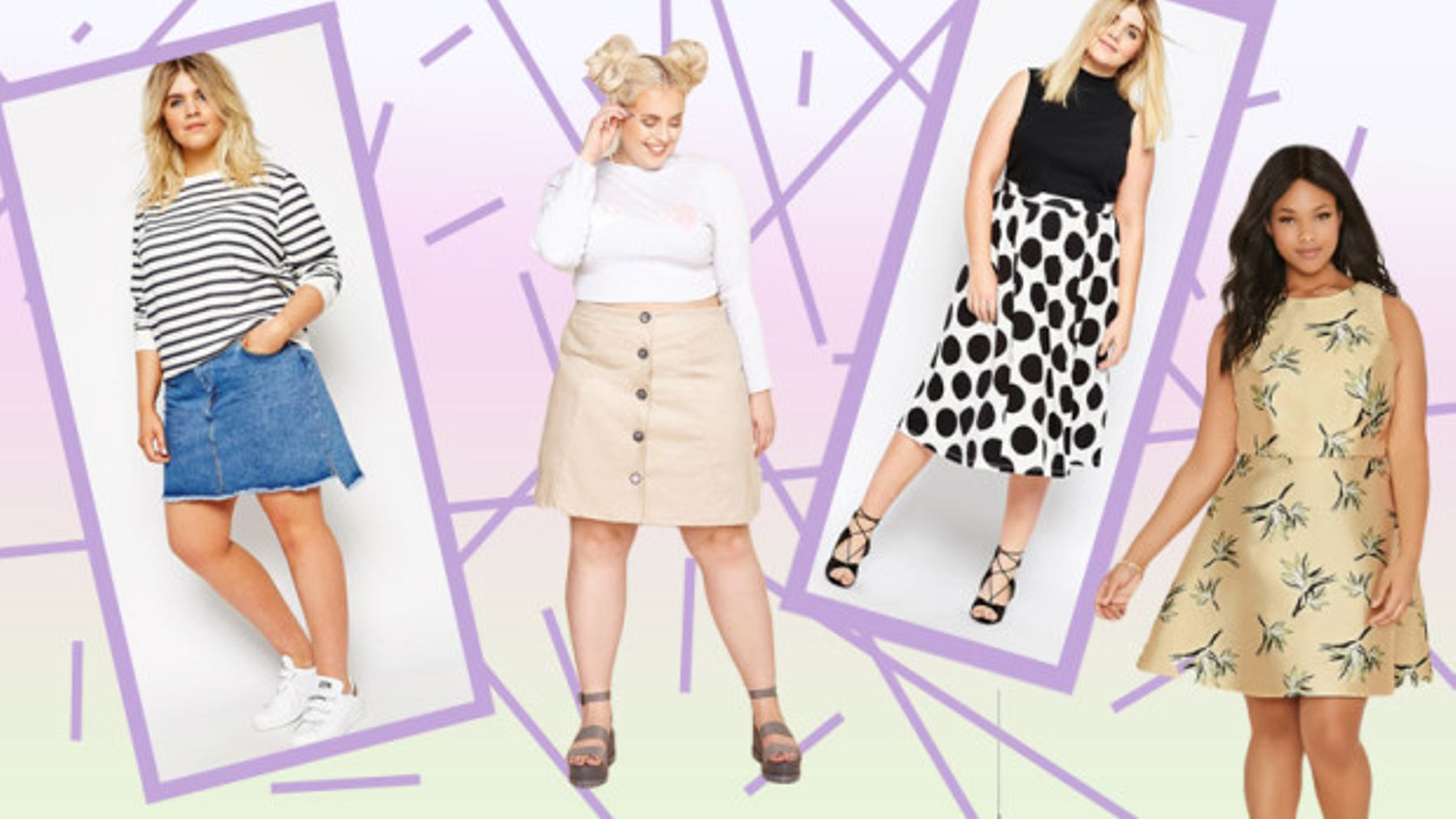 38aa626817f It's (almost) summer skirt time - and there are some extremely cute  examples around for plus-size girls right now.