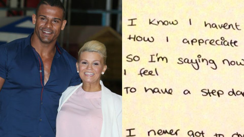 Kerry Katona Shows Off Father's Day Card Her Daughter