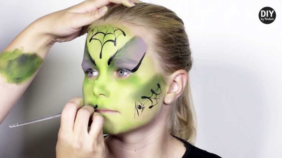 Get your children ready for a night of trick-or-treating with these easy Halloween face-painting tutorials…