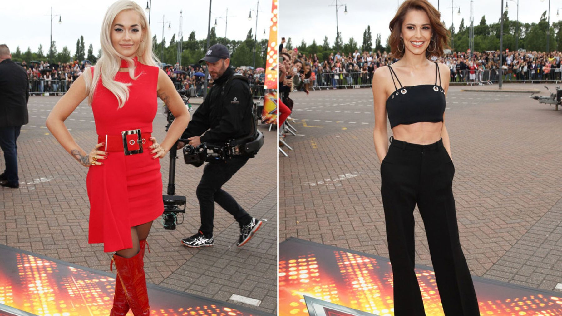 Cheryl Cole And Rita Ora Do Colour-Blocking For First X