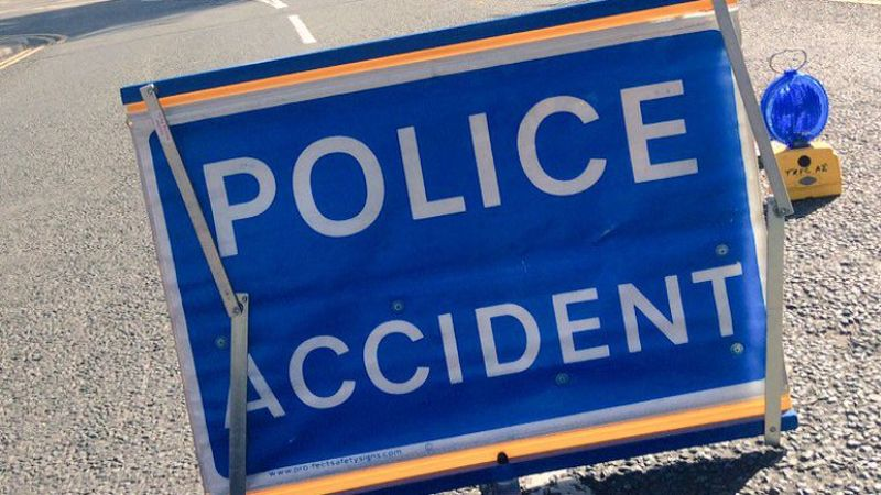 Elderly passenger dies after two-car crash