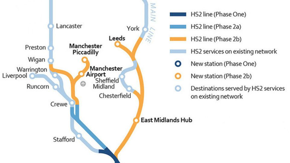 HS2 route through South Yorkshire confirmed   Local News ...