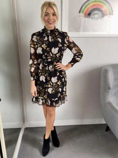 ae99f735a577 Whistles Belize Printed Silk Dobby Dress | John Lewis. Holly Willoughby  This Morning ...