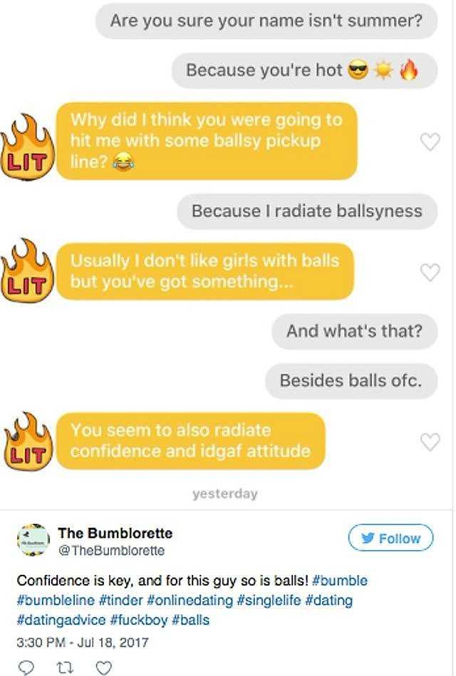 Funny pick up lines to use on guys bumble