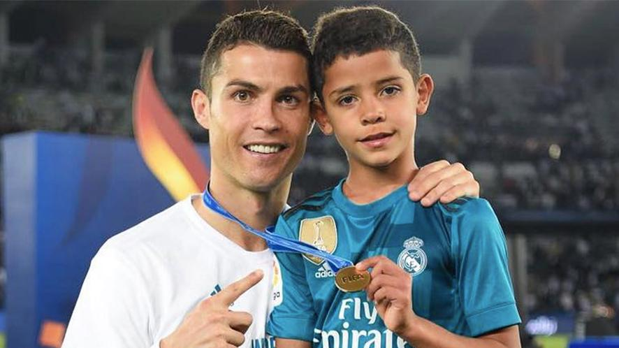 Cristiano Ronaldo's son is worryingly ripped for a seven-year-old   Closer