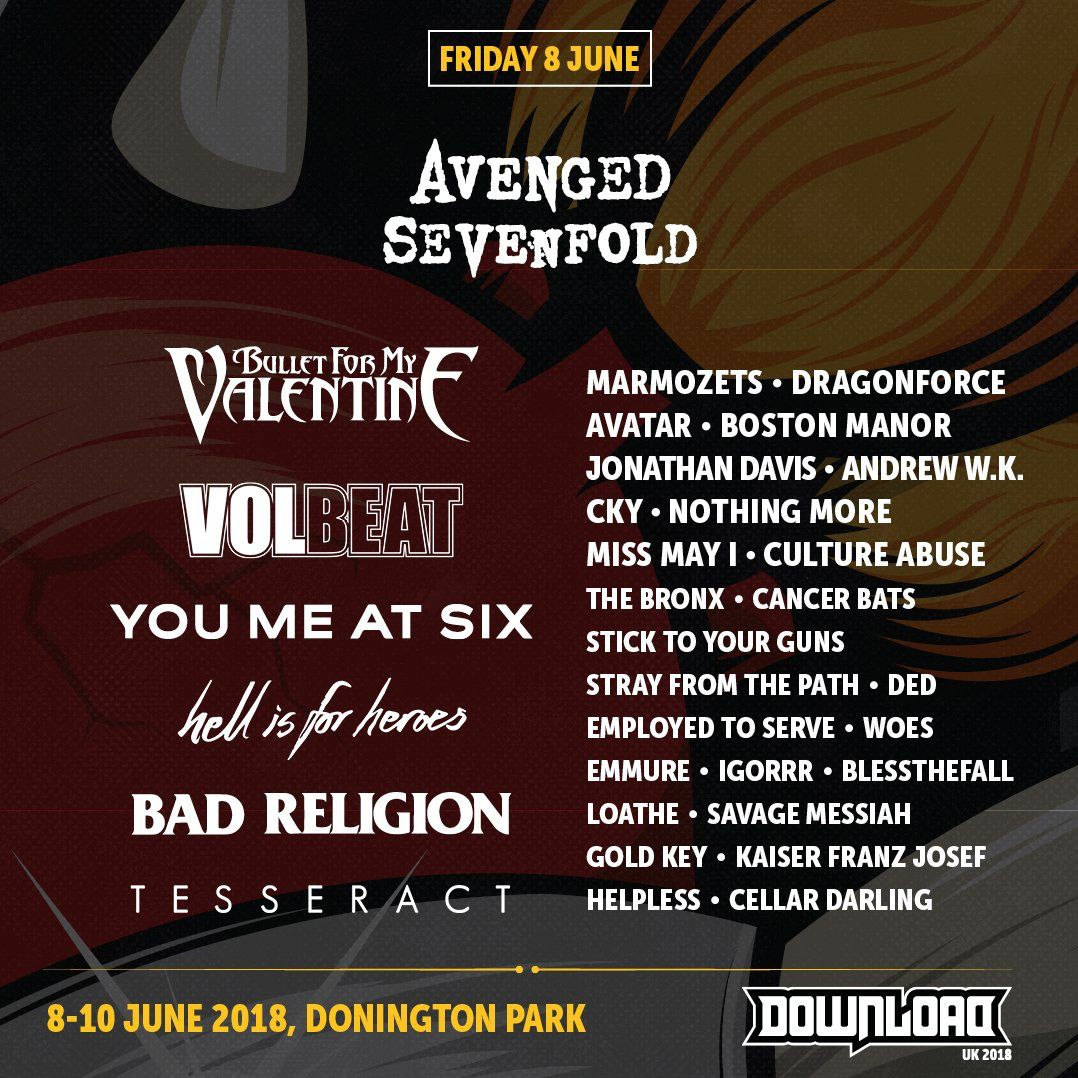 download festival 2018 lineup
