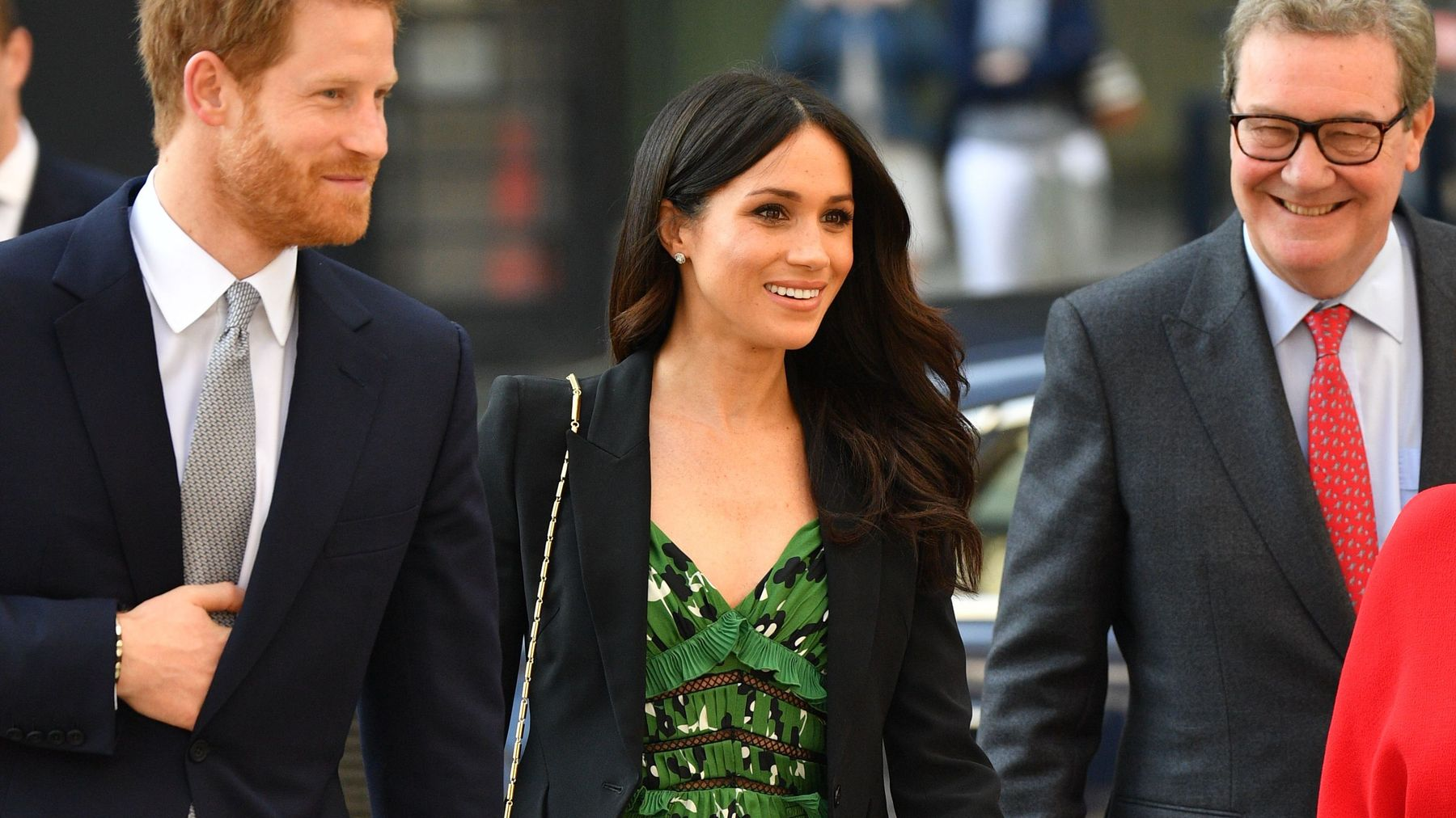 3150592b0a62 Meghan Markle's £300 Self-Portrait Dress Is Still In Stock. But you'll have  to move fast.