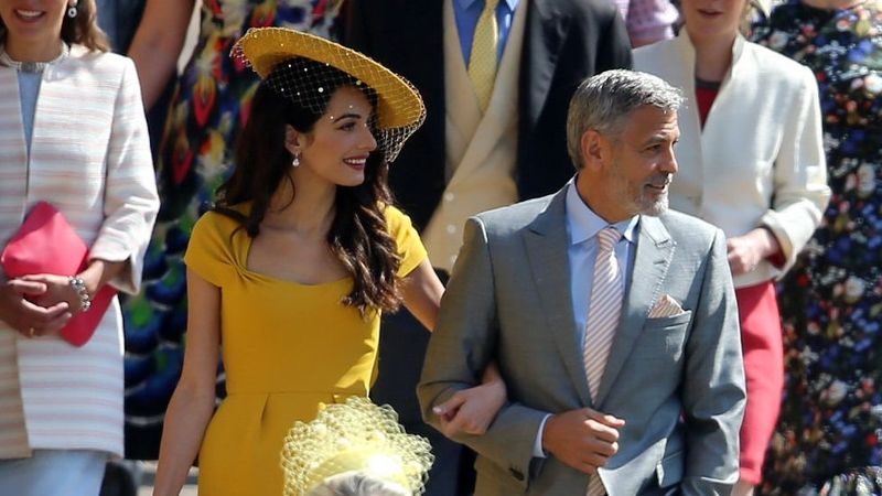 George And Amal Clooney Have Arrived At Prince Harry and Meghan Markle's Wedding!