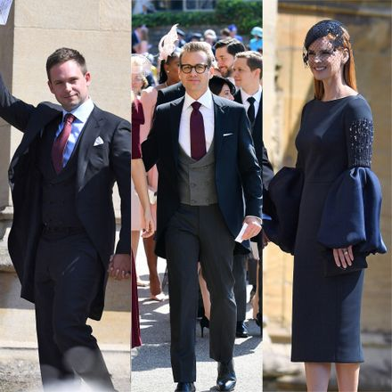 meghan markle s suits co stars have arrived at the royal wedding grazia meghan markle s suits co stars have