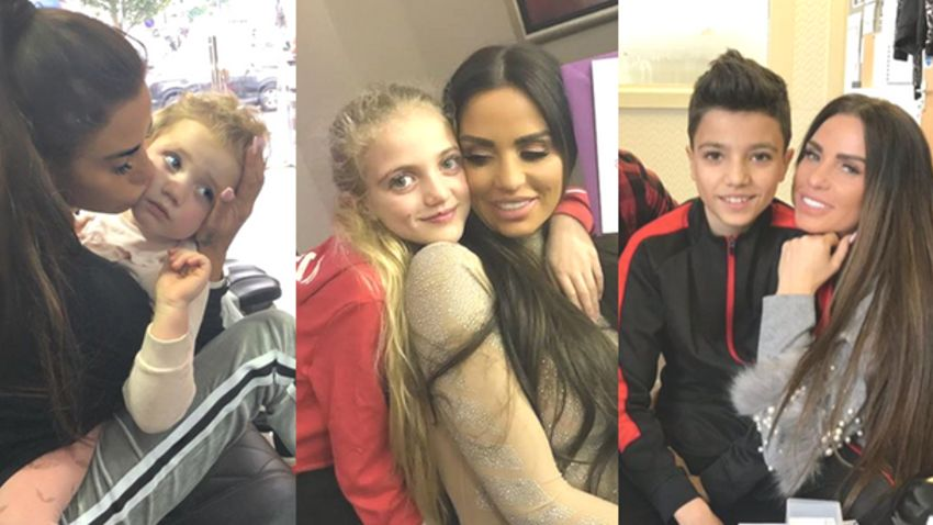 Katie Price Shares Photos Of Kids After Peter Andre Bans Her From Seeing Princess And Junior Closer