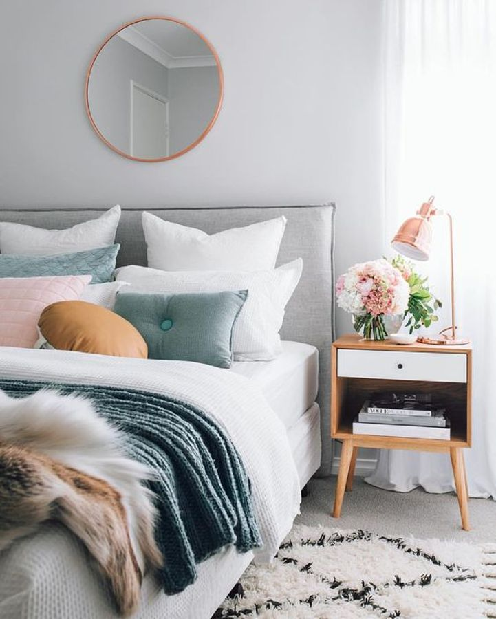the pinterest trawl how to do rose gold in the bedroom