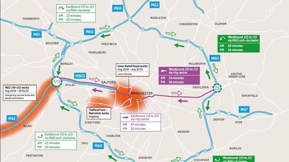 80e88d5b Major roadworks underway on Regent Road linking Manchester and ...