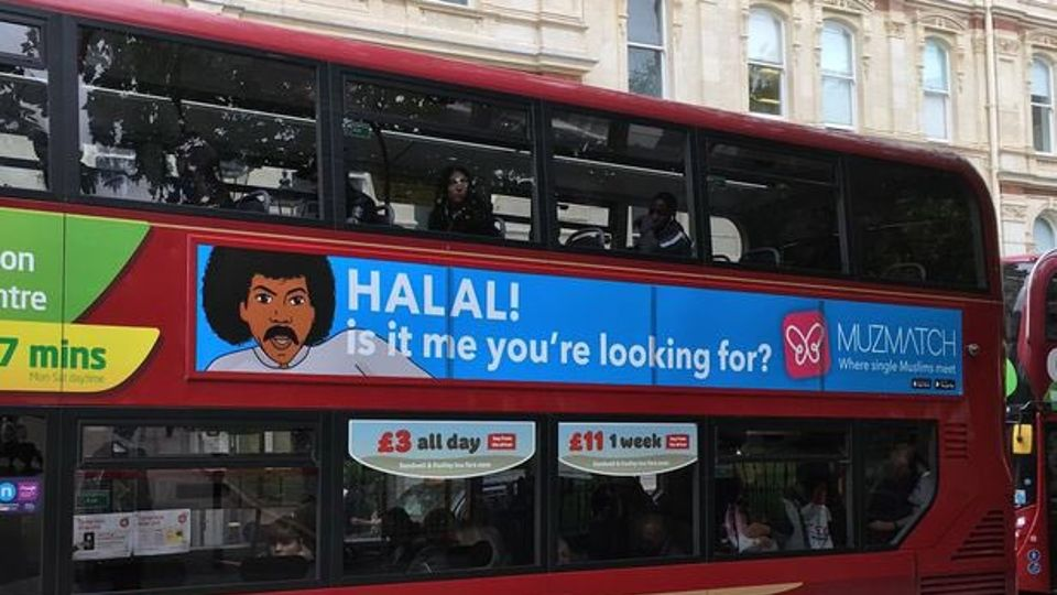These adverts for Muslim dating app Muzmatch featuring Adele and