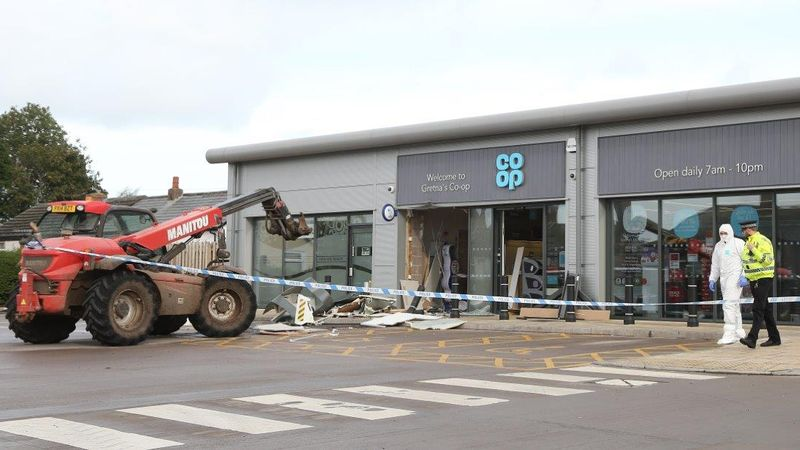 Man jailed for his part in £86,000 ram-raid in Gretna