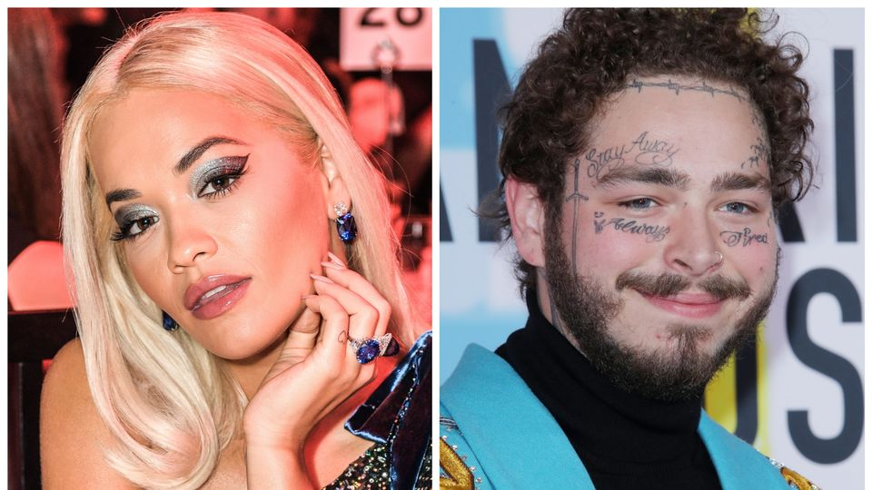 Rita Ora dressed up as Post Malone for the KISS Haunted