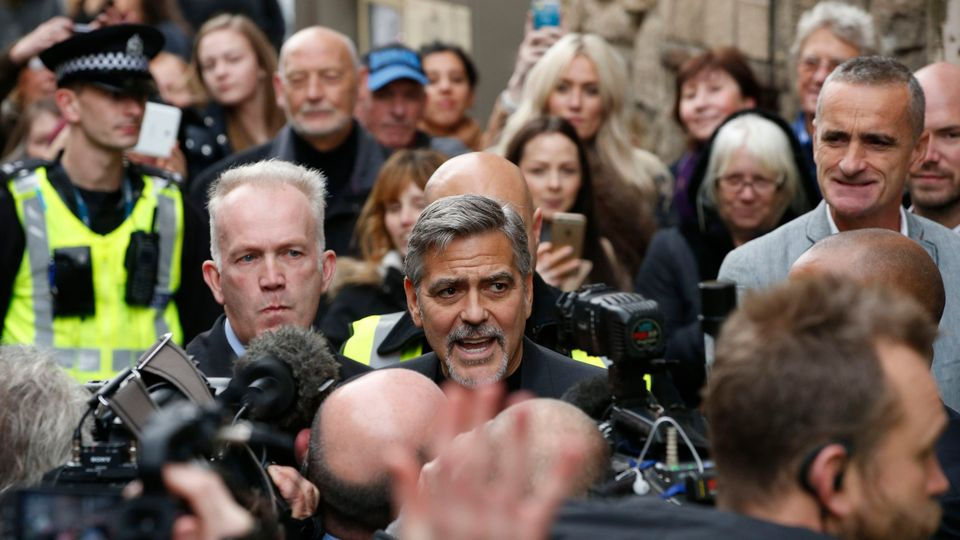 George Clooney to return to Edinburgh for charity dinner