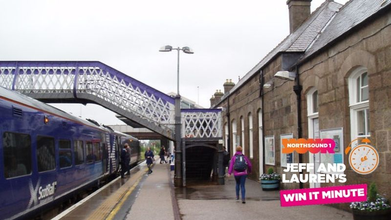 What train station is the next stop after Inverurie heading West?