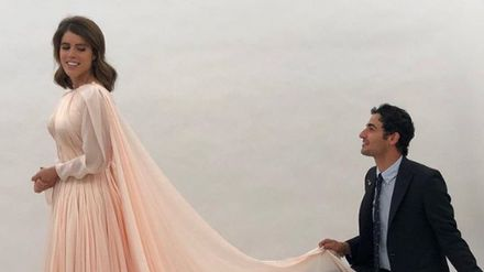 zac posen shares previously unseen photo of princess eugenie s second wedding dress grazia princess eugenie s second wedding dress